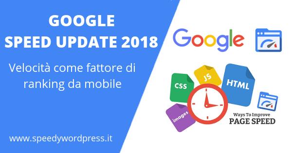 google velocità mobile
