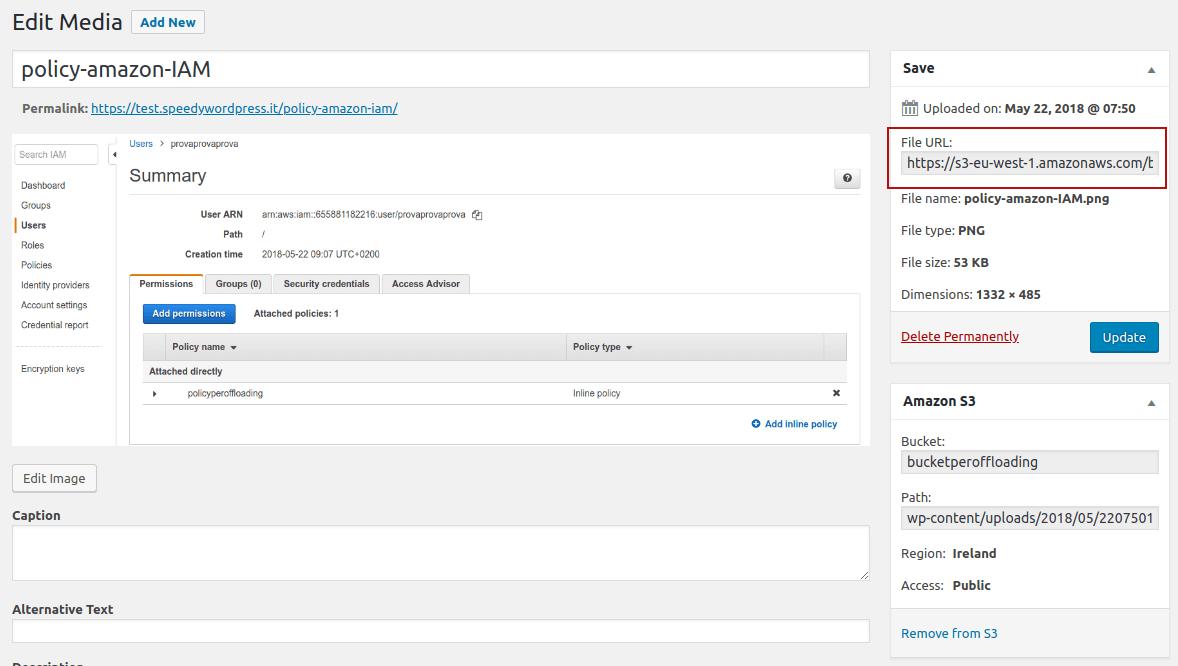 wordpress offloading amazon s3